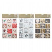 Pack 24 Self Adhesive Christmas Gift Tags
